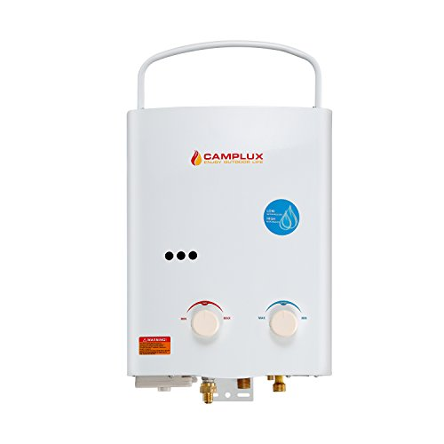 Camplux 5L 1.32GPM Ventfree Outdoor Portable Propane Gas Tankless Water Heater