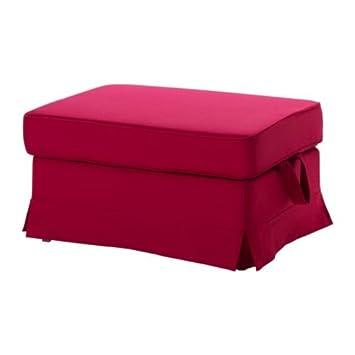 Amazon.com: IKEA EKTORP – Cubierta escabel, Idemo rojo ...