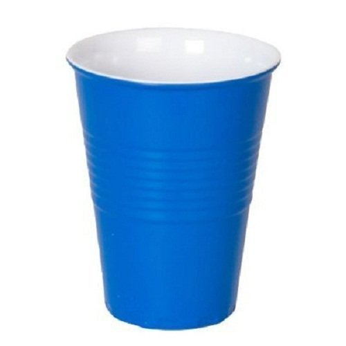 ''What Is It?'' Reusable Blue Melamine Cups / Glasses, 4.75 Inch Melamine, Set of 4 by 180 Degrees