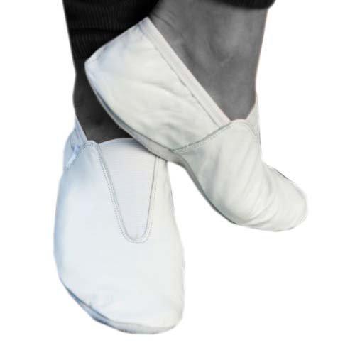 Lederschläppchen für Gymnastik / Training / Tanz / Trampolin, alle Größen, Weiß