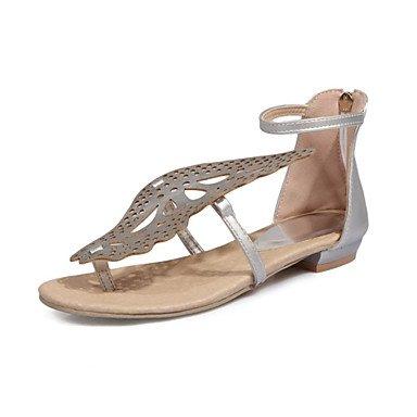 Zapatos Boda Exterior Bowknot Sandalias Plano Casual Club La EU35 CN34 Talón Vestido Verano Mujer Novedad US5 Zormey Comfort Polipiel UK3 FwqIzfn