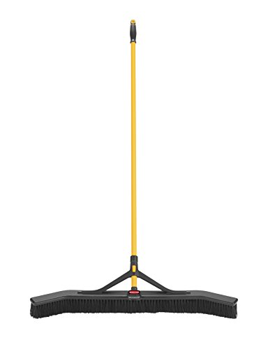 Rubbermaid Commercial Products Maximizer Push-to-Center Broom with Multi-Purpose Bristle, 36