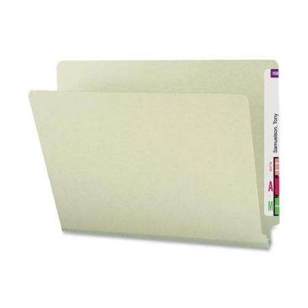 Smead 29210 Gray/green End Tab Pressboard File Folders - Legal - 8.50'' X 14'' - 2'' Expansion - 23 Pt. - Pressboard - Gray, Green - 25 / Box (SMD29210)
