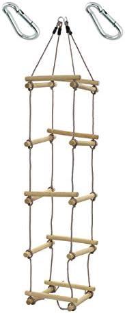 1 St/ück h2i Kinder Strickleiter Kletterleiter 4-seitig mit Karabiner zum Einh/ängen