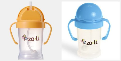 ZoLi BOT 2 Pack Sippy Cup (Blue, Orange)