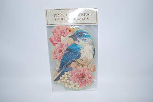 Medium Flower Punch (Punch Studio Hanging Air Fresheners FRESH FLOWERS Blue Bird Design Large 4 Pack)