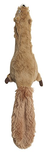 (Ethical 5735 Skinneeez Plus-Squirrel Stuffing-Less Dog Toy, 15-Inch)