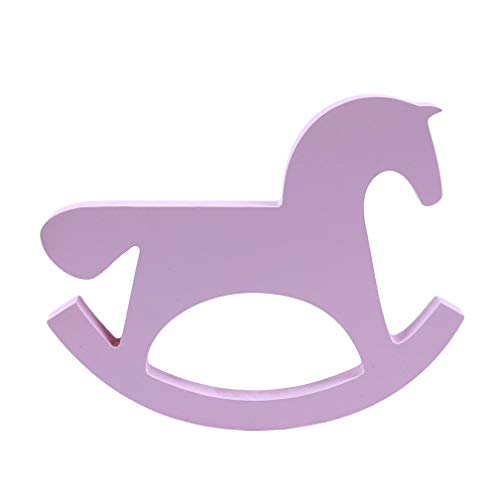 LJSLYJ Wooden Small Rocking Horse Balance Home Decor Children Toy Ornaments Hand Carved ()