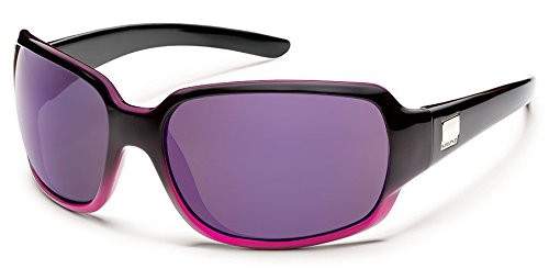 Suncloud Cookie Polarized Sunglass with Polycarbonate Lens, Black Purple Fade Frame/Purple - Polycarbonate Polarized Sunglasses