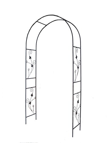 1.Go Steel Garden Arch, 7'5 High x 3'7 Wide, Garden Arbor for Various Climbing Plant, Outdoor Garden Lawn Backyard by 1.Go