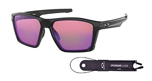 Oakley Targetline OO9397 939705 58M Polished Black/Prizm Golf Sunglasses For Men+BUNDLE with Oakley Accessory Leash Kit