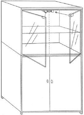 Glast/ür SET Druckmagnetschn/äpper /& Glast/ürscharniere bis zur einer Dicke von 8mm