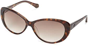 Kenneth Cole New York KC7055SW56F Cat-Eye Sunglasses,Havana,59 mm