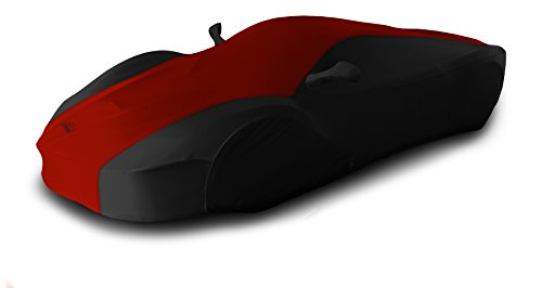 Dodge Viper Car Cover - Coverking Custom Fit Car Cover for Select Dodge Viper Models - Satin Stretch (Red with Black Sides)