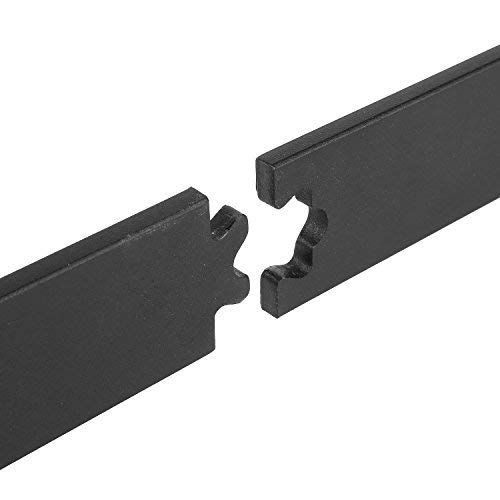 FIXKIT 6Ft 183cm Herraje para Puerta Corredera Kit de Accesorios para Puertas Correderas Juego de Piezas de Metal Carril para Puerta Deslizante 183*4*0.6cm: ...