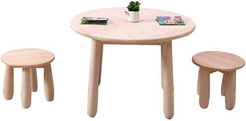 CTC Juego de mesa y silla para niños, mesa de actividades para niños portátil de madera