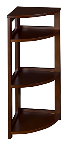 Regency Flip Flop 34-inch High Corner Folding Bookcase- Mocha Walnut