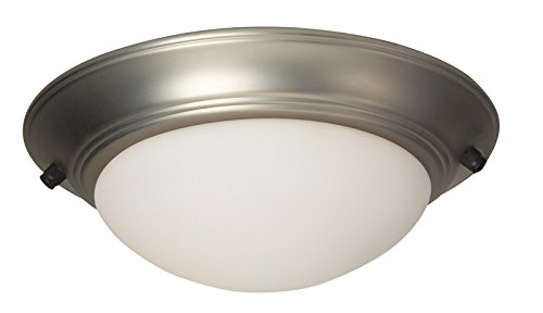Kit Invitation Elegance (Craftmade LKE53BN-NRG 2 Light Elegance Bowl Fan Light Kit, Brushed Satin Nickel)