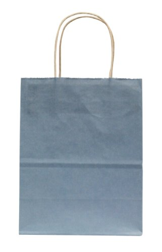 (Premier Packaging AMZ-204107 15 Count Colors on White Shopper Gift Bag, 8.25 by 10.5-Inch, Light Blue)