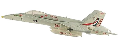 (F/A-18C Hornet VFA131 Wildcats Aircraft Built-Up Die Cast 1-150 Model)