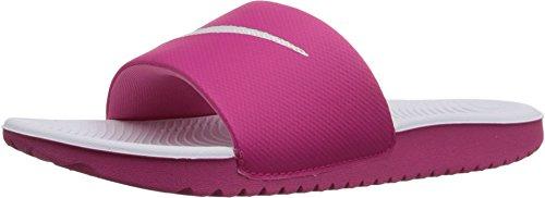 Nike Kids Kawa Slide (GS/PS) Vivid Pink/White Sandal 1 Kids US