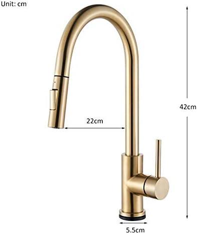 シャンパンブロンズゴールドセンサーキッチン水栓敏感なスマートタッチコントロール蛇口ミキサータップタッチセンサースマートキッチンタップ