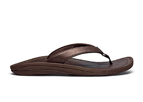 OLUKAI Kulapa Kai Leather Sandal - Women's French Roast/French Roast 9 by OLUKAI