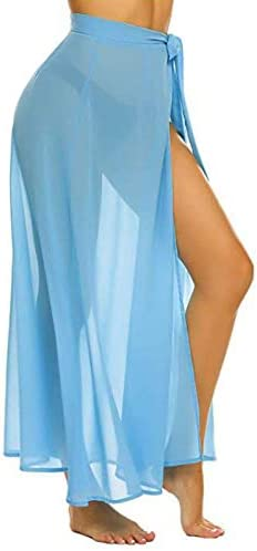 iSunday Falda de Color sólido para Mujer, Transpirable, Elegante ...