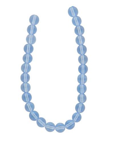 Tennessee Crafts 1721 Glass Light Sapphire Glass Round Beads, 8mm