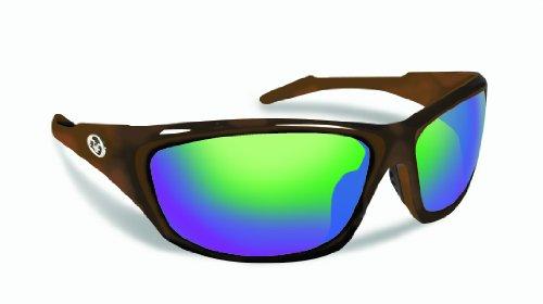 Shiny Glass Tortoise Amber (Flying Fisherman St. Croix Master Angler Polarized Polcarbonate Sunglasses (Tortoise Frame, Amber-Green Mirror Lens))