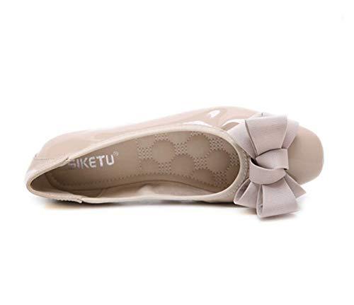 de sport Mocassins en chaussures tout Guide confortables Mocassins pour confort ballerines Chaussures Marche Beige cuir femmes escarpins Pompes PPw7gf