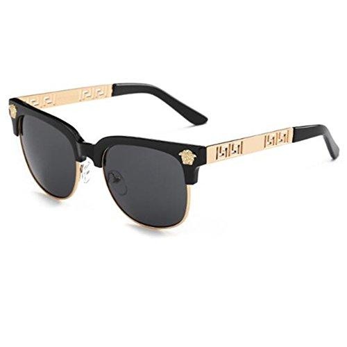 T-Y Unisex 2017 new Retro fashion Round frame sunglasses Plain glasses - Most Frames Eyeglass Popular 2017