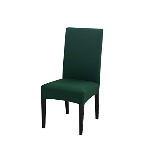 WEEFORT Removable Anti-Dirty Dining Chair Cover Stretch Elastic Folding Slipcover for Restaurant Weddings Banquet Kitchen Hotel