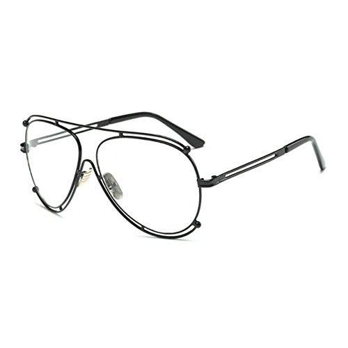 Aoligei Les lunettes de soleil de grand cadre Fashion Lady lunettes de soleil lunettes de soleil rétro européen et américain qaGz8R