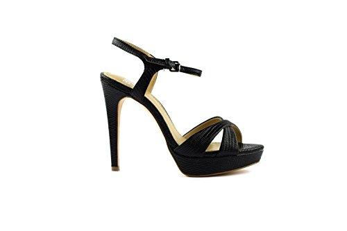bibi Vestir Negro para Sandalias lou de Mujer rzwrRSx
