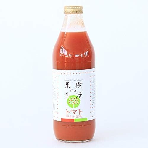 果樹ある生活 トマトジュース 1000ml×12本(野菜汁100%)