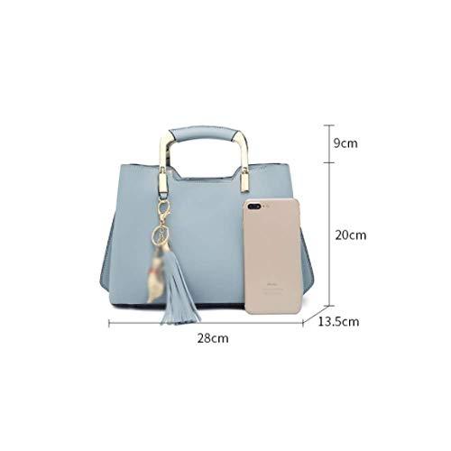 Simple coreana del versione Ajlbt vento Handbags rosa Messenger Tassel Borsa Wild wfqInaxn5
