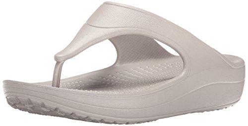 Mujer Sandalias para Sloane Crocs Platinum Gris Flip a con Cu Platform SaW8n0nxZt
