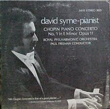 David Syme-Pianist: Chopin Piano Concerto No. 1 in