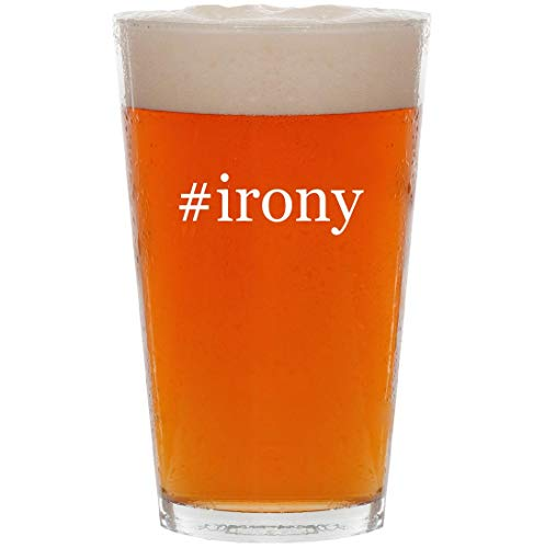 #irony - 16oz Hashtag All Purpose Pint Beer Glass