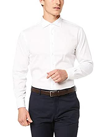 Van Heusen Euro Tailored Fit Business Shirt, White, 37 82