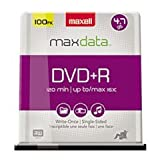 (3 Pack Value Bundle) MAX639016 DVD+R Discs, 4.7GB, 16x, Spindle, Silver