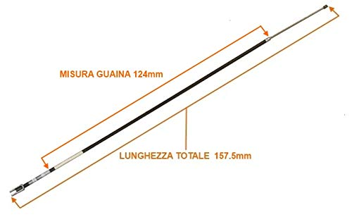 1003409 MICROCAR MC2 handbrake cable 157.5 cm