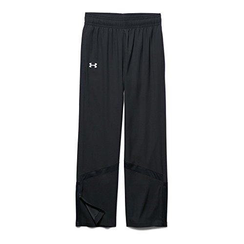 Under Armour Girl`s Pregame Woven Warm-Up Pants (SM (8 Big Kids) x One Size, Black (1277169-001) / - Up Game Pant Big Warm