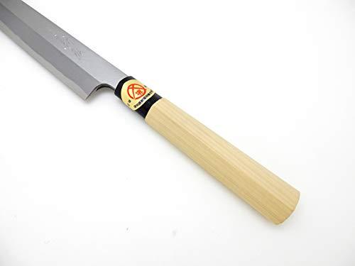 Yoshihiro Yasuki Yellow Steel(Kigami),KASUMI Left handed Yanagiba(Sashimi) Knife (240mm/9.4'') by Yoshihiro (Image #4)