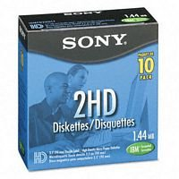 Office Depot(R) 3 1/2'' Diskettes, IBM(R) Format, DS/HD, Black, Box Of 10
