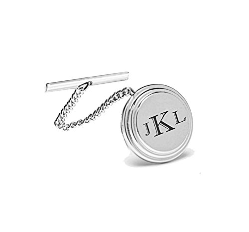 Personalized Silver Beveled Tie Pin Engraved Free by A & L Engraving