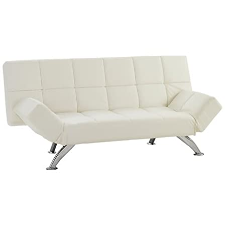 Worldstores Venice Faux Leather Sofa Bed In White 2 Seater Sofa
