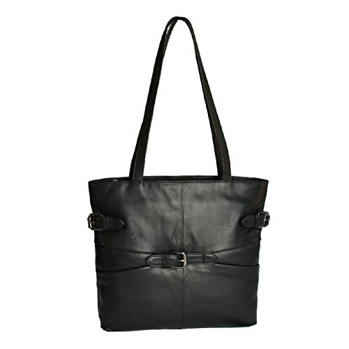 Nero Tote Donna Leather Borsa Stile Counties Jill Mano A Eastern 0qzT8P
