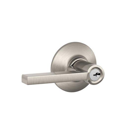 Schlage F51A LAT 619 Latitude Lever Keyed Entry Lock, Satin Nickel ()